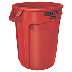 Rubbermaid® BRUTE® Vented Container - 32 Gal., Red