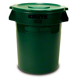 Rubbermaid® BRUTE® Vented Container - 44 Gal., Dk Green