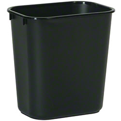 Rubbermaid® Deskside Wastebasket - 13 5/8 Qt., Black