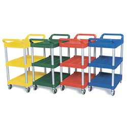 """Rubbermaid® Utility Cart w/4"""" Casters - Red"""