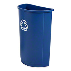 Rubbermaid® Untouchable® Half Round Recycling Wastebasket - 21 Gal., Blue