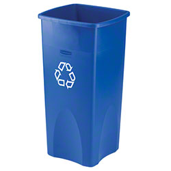 Rubbermaid® Untouchable® Square Recycling Container - 23 Gal., Blue
