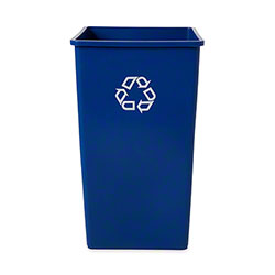 Rubbermaid® Untouchable® Recycling Container - 50 Gal., Square, Blue