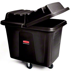 Rubbermaid® Cube Truck - 8 cu ft, Black