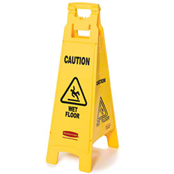 "Rubbermaid® ""Caution Wet Floor"" 4-Sided Floor Safety Sign"