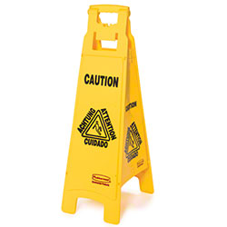 "Rubbermaid® ""Caution"" 4-Sided Floor Safety Sign"