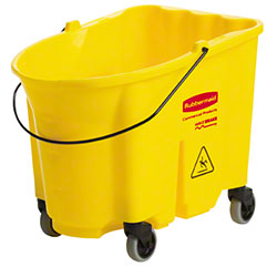 Rubbermaid® WaveBrake® 35 Qt. Yellow Bucket w/Caster Kit