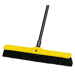 "Rubbermaid® Heavy Duty Floor Sweep-24"", Plastic,Poly,Black"