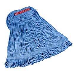 "Rubbermaid® Super Stitch® Blend Mop - Large, 1"", Blue"