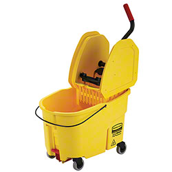 Rubbermaid® WaveBrake® Down Press Combo - 44 Qt.,Yellow