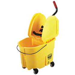 Rubbermaid® WaveBrake® Down Press Combo - 35 Qt.,Yellow