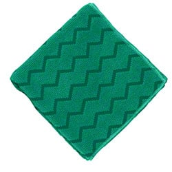 "Rubbermaid® HYGEN™ Microfiber Cloth - 16"" x 16"", Green"