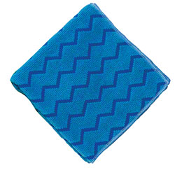 "Rubbermaid® HYGEN™ Microfiber Cloth - 16"" x 16"", Blue"