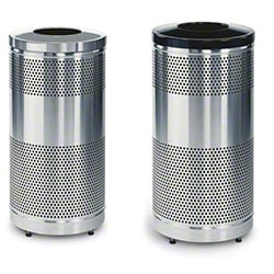Rubbermaid® Classics Stainless Steel Recycle Containers