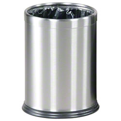 Rubbermaid® Hide-A-Bag Open Top Wastebasket - SS