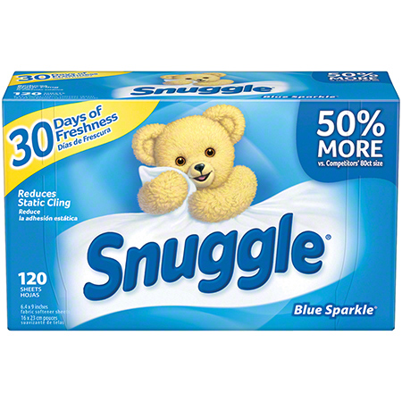 Diversey Snuggle® Fabric Softener Sheets - Blue Sparkle®