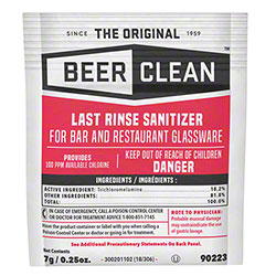 Diversey™ Beer Clean® Last Rinse Sanitizer - 1/4 oz.