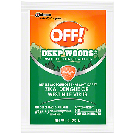 OFF!® Deep Woods® Insect Repellent Towelettes - 12 ct.