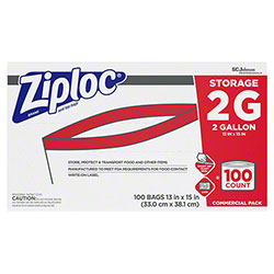SCJP Ziploc® Brand Seal Top 2 Gallon Storage Bag - 100 ct.