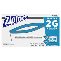 SCJP Ziploc® Two Gallon Freezer Bag - 100 ct.