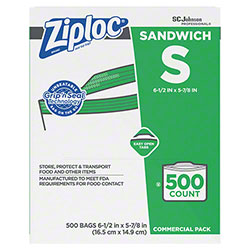 SCJP Ziploc® Brand Seal Top Sandwich Bag - 500 ct.