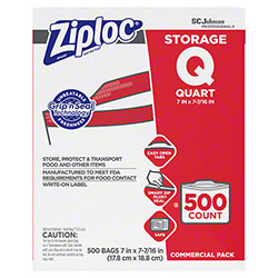 SCJP Ziploc® Quart Storage Bag - 500 ct.