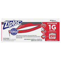 SCJP Ziploc® Brand Seal Top One Gallon Storage Bag - 250 ct.