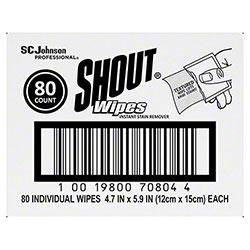 SCJP Shout® Wipes Instant Stain Remover - 80 ct.