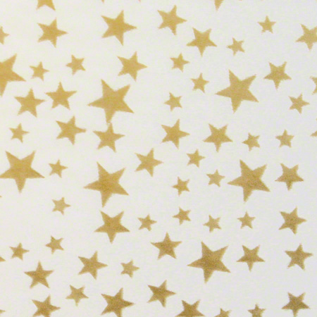 "SatinWrap® All Occasion Gold Stars/White Tissue - 20""x30"""