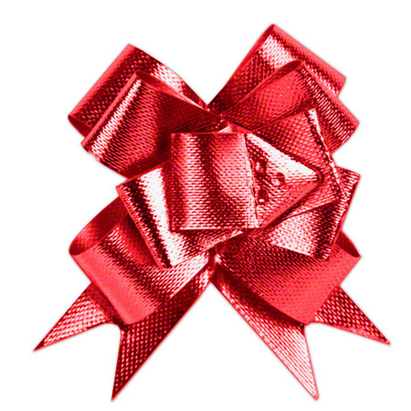 """Shamrock Glitter Butterfly Bow Magic® Pull Bows - 2"""", Red"""