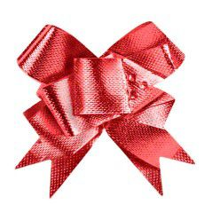 """Shamrock Glitter Butterfly Bow Magic® Pull Bows - 4"""", Red"""