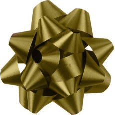 Shamrock Gold 14 Loop Star Bow - 2 3/4""