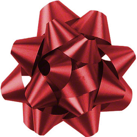 Shamrock Red 14 Loop Star Bow - 2 3/4""