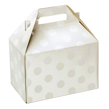 "Shamrock Polka Dot Pearl Gable Box - 8"" x 4 7/8"" x 5 1/4"""