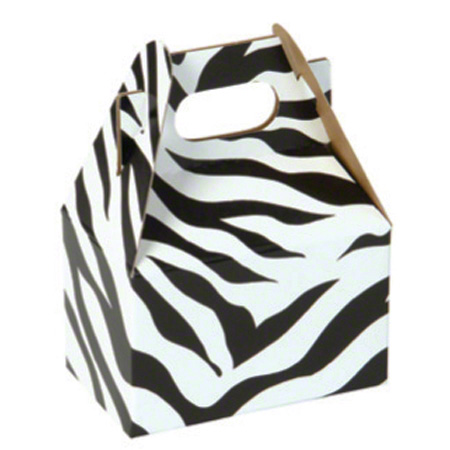 "Shamrock Zebra Stripes Gable Box - 4"" x 2 1/2"" x 2 1/2"""