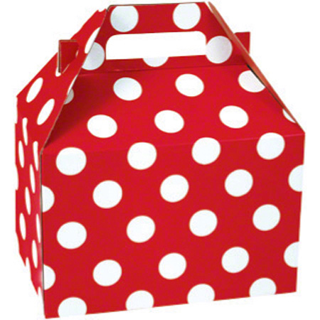 "Shamrock Cheery Dots Medium Gable Box - 8"" x 4 7/8"" x 5 1/4"""