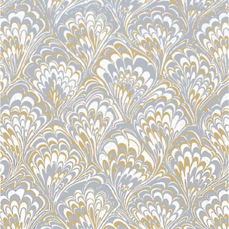 Shamrock Gold & Silver Feathers Gift Wrap - 100'