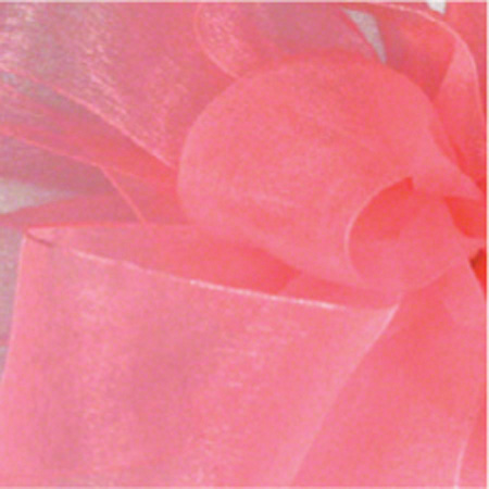 "Shamrock Rose Pink Simply Sheer Asiana - 7/8"" x 100 yds"