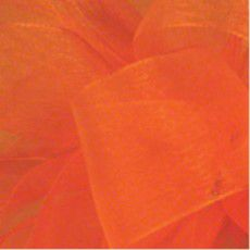"Shamrock Tropical Orange Simply Sheer Asiana-7/8"" x 100 yds"