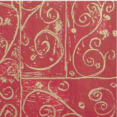 "Shamrock Christmas Burgundy Swirls Printed Tissue-20"" x 30"""