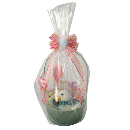 "Shamrock Clear Basket Bag - 14"" x 24"""