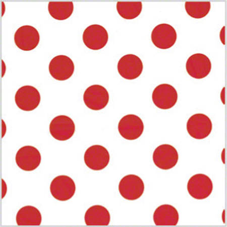 "Shamrock Polka Dot Red Printed Tissue - 20"" x 30"""