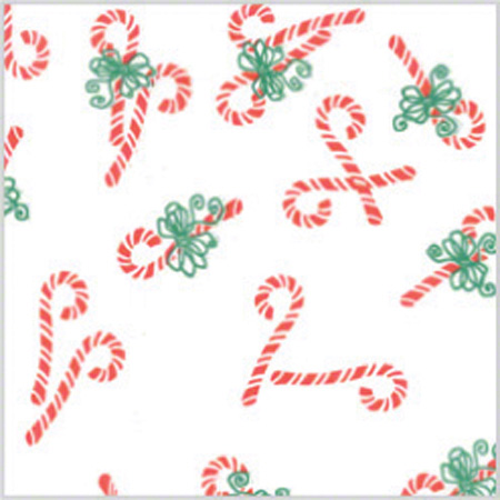 """Shamrock Christmas Candy Canes Printed Tissue - 20"""" x 30"""""""