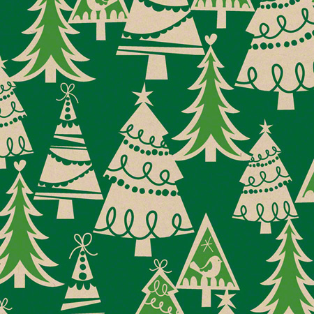 Shamrock Holiday Forest/Kraft Gift Wrap - 100'