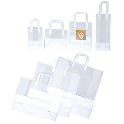 Shamrock Clear Frosted High Density Shopping Bags
