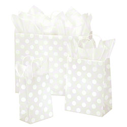 Shamrock Polka Dot Pearl Shopping Bags
