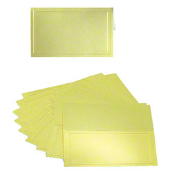 "Shamrock Folding Gold Gift Card - 3 1/2"" x 2 1/4"""