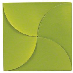 "Shamrock Shimmer Frost Leaf Gift Card Folder - 6"" x 6"""