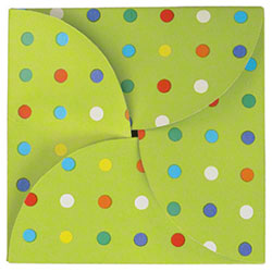 "Shamrock Party Dots Gift Card Folder - 6"" x 6"""