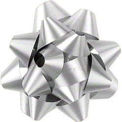 Shamrock White 14 Loop Star Bow - 2 3/4""